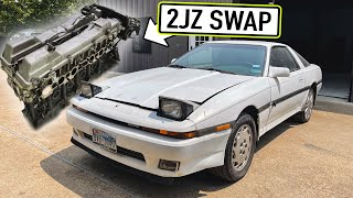 homepage tile video photo for Taking delivery of the MK3 Supra's NEW 2JZ!