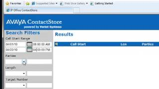 Avaya IP Office - Contact Store Search Database