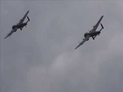 Dambusters March by Eric Coates - '2 Lancasters' at Duxford 14th September 2014