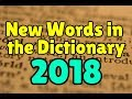 New English words added to the dictionary in 2018