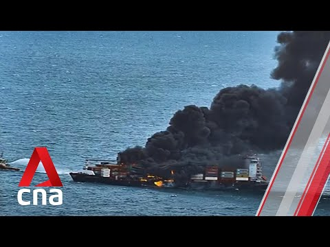 Sri Lanka evacuates crew from Singapore-flagged container ship on fire, carrying nitric acid