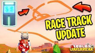 Fuga de presos nova corrida pista RACING UPDATE (código secreto pista de corrida Sky) | Roblox jailbreak nova atualização