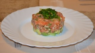 Тар-тар из лосося и авокадо