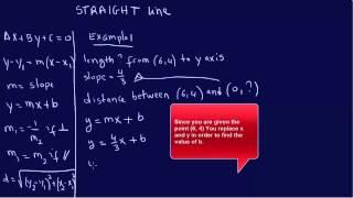 STRAIGHT LINE EQUATION: EIT/FE Exam Review