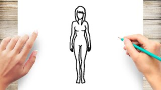 How to Draw a Girl Body Step by Step for Kids