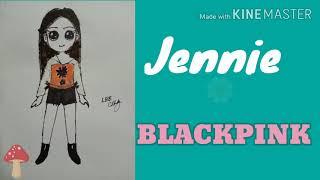 How to draw Jennie BLACKPINK Kpop