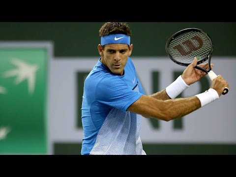 Del Potro Solid In Indian Wells 2016 Highlights