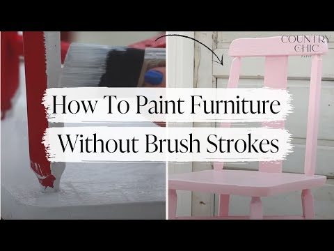 How To Paint Furniture Without Sanding | Chalk Based Paint Application  Tutorial