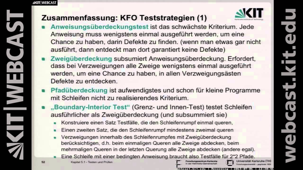 22: Softwaretechnik 1, Vorlesung, SS2015 - YouTube