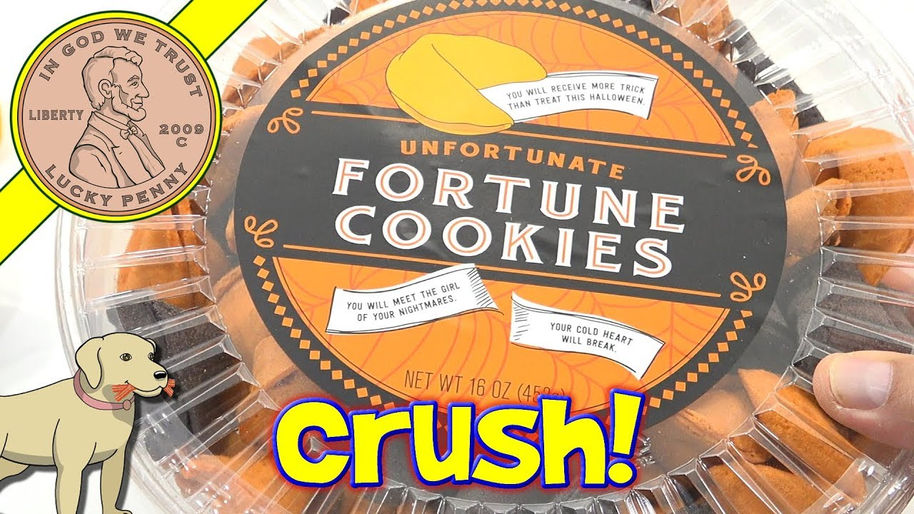 halloween unfortunate fortune cookies smash crunch read kids toy candy toysreview
