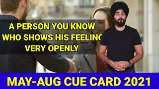A Person Who Shows His Feeling Openly   New Cue Card Open Person You Know   RamanSir Sample Band 8.0