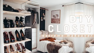 EXTREME DIY WALK-IN CLOSET MAKEOVER!!!