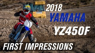 Video 2018 Yamaha YZ450F | First Impressions download MP3, 3GP, MP4, WEBM, AVI, FLV Januari 2018