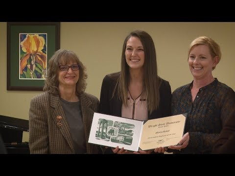 Senior Olivia Kriel named Wright State Student Employee of the Year