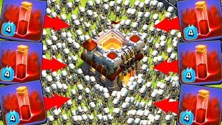 ТРОЛЛИМ ПРОТИВНИКОВ СКЕЛЕТНЫМ ЗАКЛИНАНИЕМ!! 300 СКЕЛЕТОВ!!! Clash of Clans