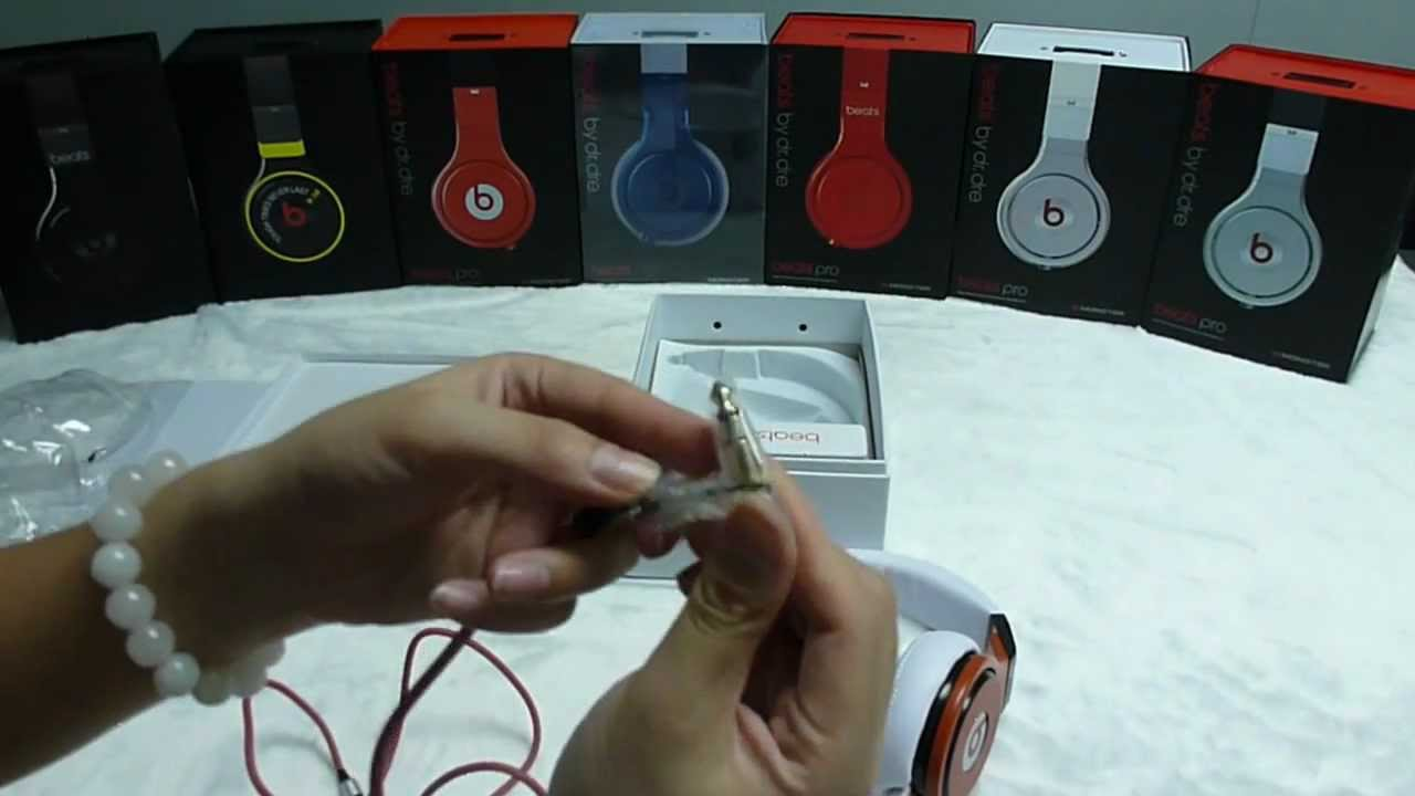 Monster Beats PRO white and red headphone unboxing from DHgate ...