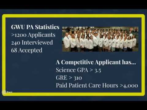 GW PA Class Of 2016: Who Are We?