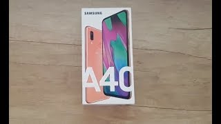 Samsung Galaxy A40 Coral Unboxing Review