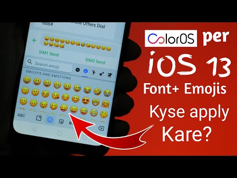 🔥Apply IOS Font & Emojis On Your ColorOS Running Device