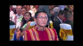 Celebrating for Vice President of Myanmar and Chief Minister of Chin State in Yangon, Myanmar.