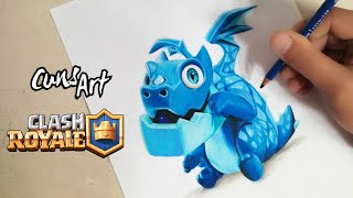 COMO DIBUJAR AL DRAGON ELECTRICO | CLASH ROYALE | how to draw electro dragon