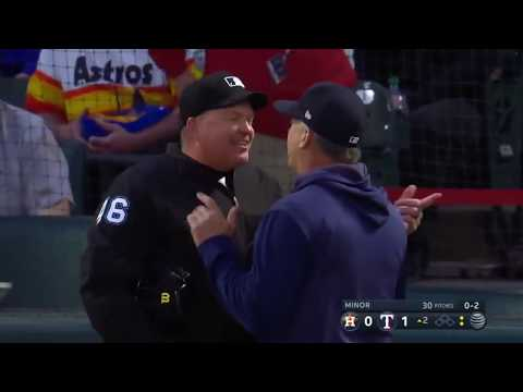 Umpire goes on a power trip at the Rangers/Astros game- April 3rd, 2019