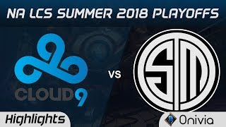 C9 vs TSM Highlights Game 5 NA LCS Summer Playoffs 2018 Cloud9 vs Team Solo Mid by Onivia