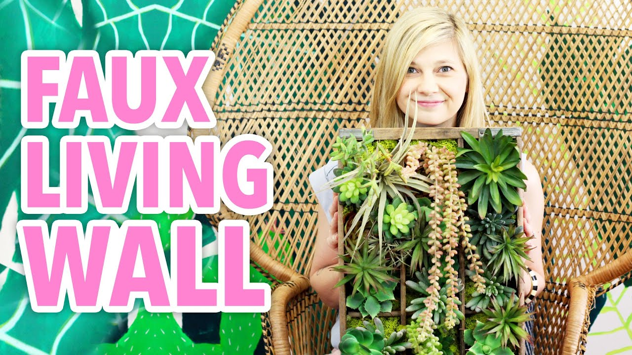 DIY Faux Living Succulent Wall  HGTV Handmade  YouTube