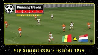 Winning Eleven 2002: Clássicos (PS1) #19 Senegal 2002 x Holanda 1974