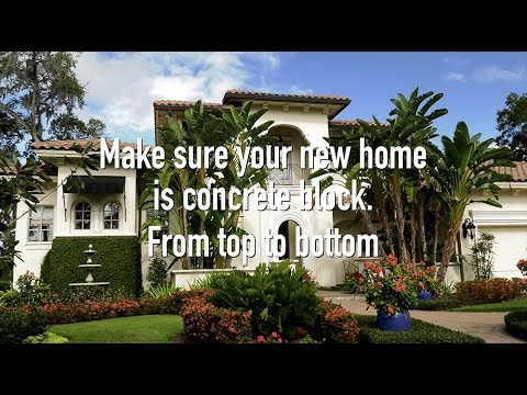 Florida concrete block homes stormy skies youtube for Block home builders in florida