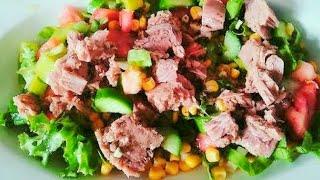 Ton Balıklı Salata Nasıl Yapılır Nefis Ton balıklı Salata Tarifi