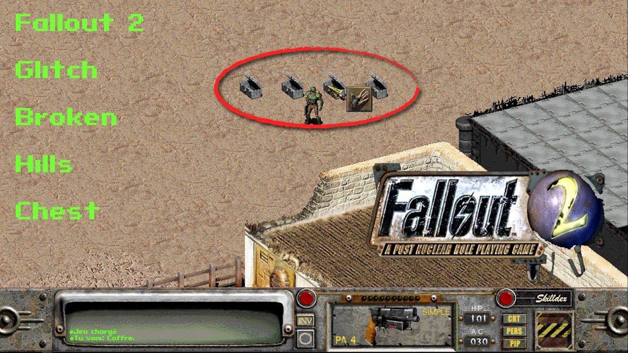 Fallout 2 - Glitch - Secret footlockers/chests at Broken Hills