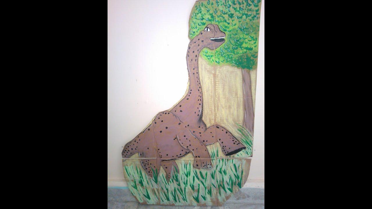 C mo pintar un dinosaurio en cart n painting dinosaur on - Como pintar un radiador ...