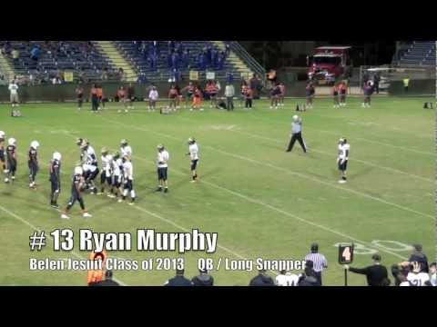 Ryan Murphy #13 Belen Jesuit Football- Snap & Tackle vs Stranahan 11-18-11