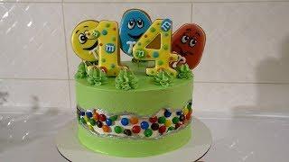 ТОРТ с линией разлома  Fault Line Cake Торт M&M's Детский торт