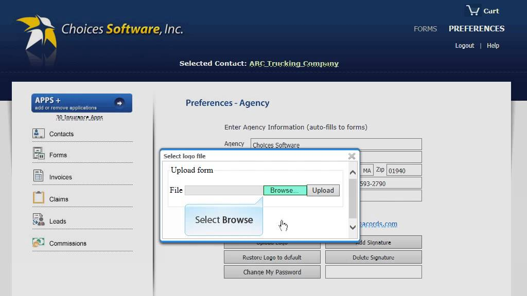 ACORD Forms   How to Add Your Company Logo   Choices Software   YouTube ACORD Forms   How to Add Your Company Logo   Choices Software
