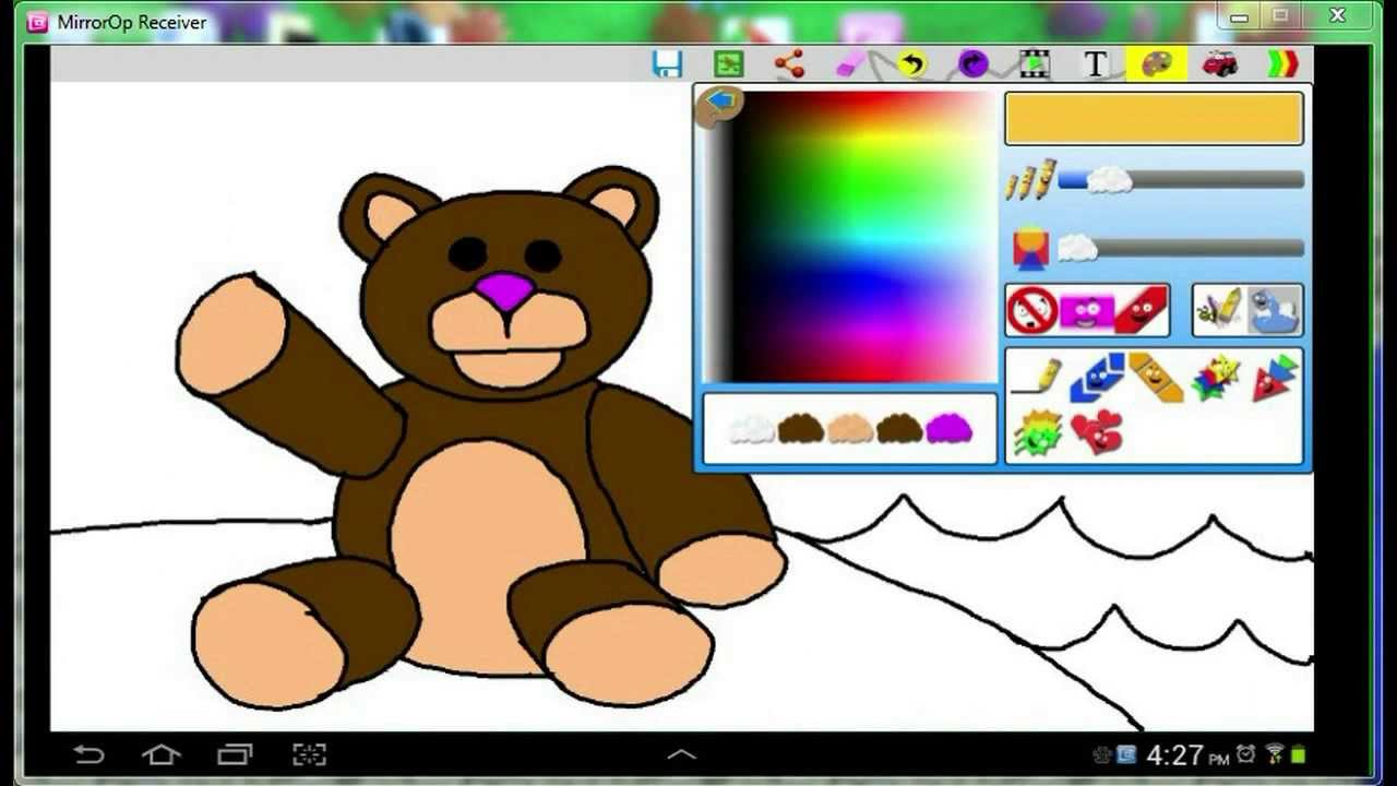 how to draw a teddy bear using cloud doodle color u0026 draw youtube