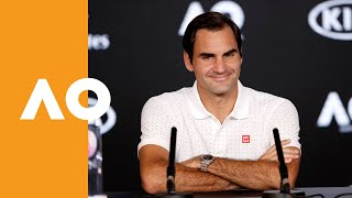 "Roger Federer: ""I'm happy to be back here!"" 