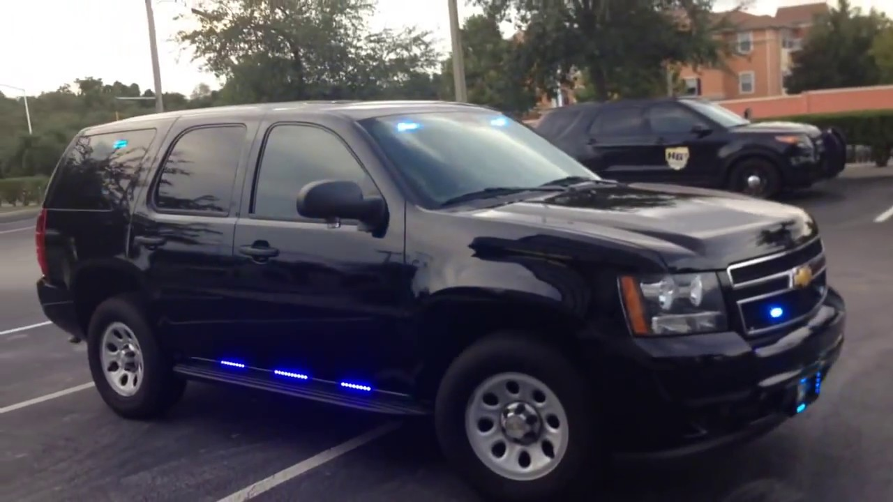 Hg2 Emergency Lighting Unmarked 2017 Chevy Tahoe Police Package