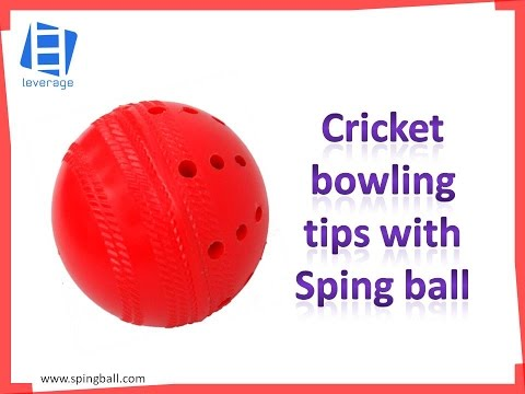 Cricket bowling tips with Spingball