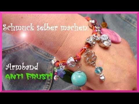 schmuck selber machen kunterbuntes bettelarmband youtube. Black Bedroom Furniture Sets. Home Design Ideas