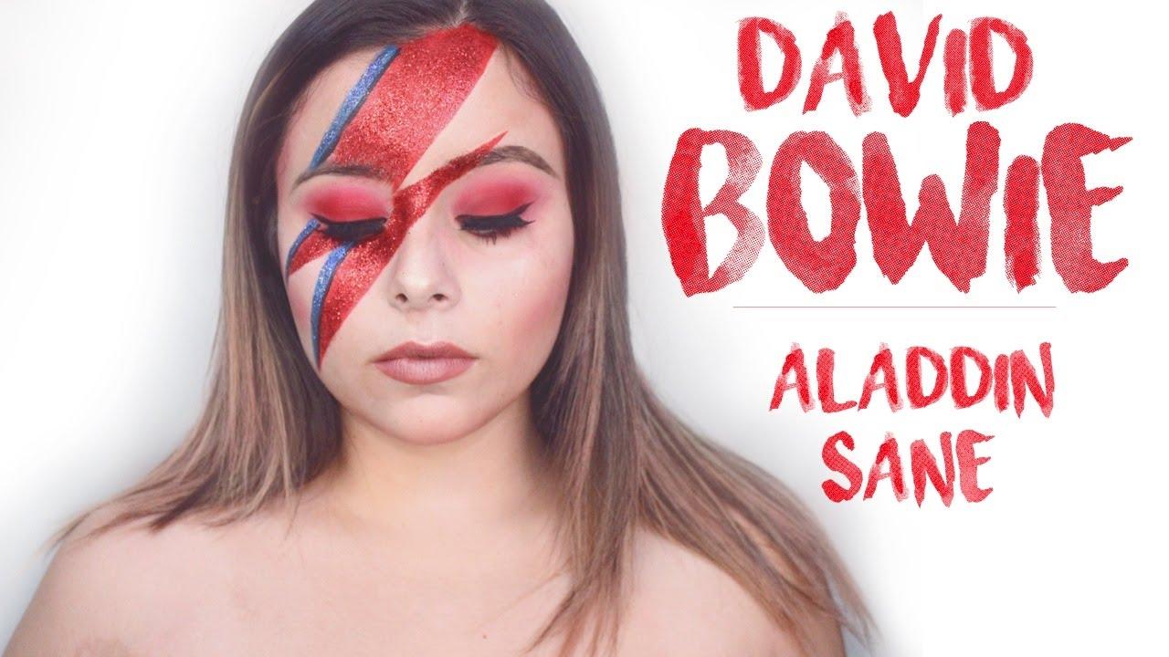 David bowie aladdin sane makeup tutorial youtube - Aladdin singe ...