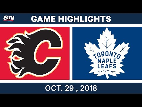 NHL Highlights | Flames vs. Maple Leafs - Oct. 29, 2018