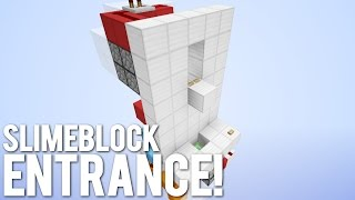 Minecraft: The Slime Bounce Secret Entrance!