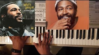 MARVIN GAYE - MERCY MERCY ME (PIANO TUTORIAL) E MAJOR