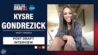 Kysre Gondrezick On Being Drafted No. 4 Overall In WNBA Draft | Indiana Fever