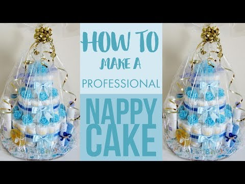 How To Make Professional Nappy Cake