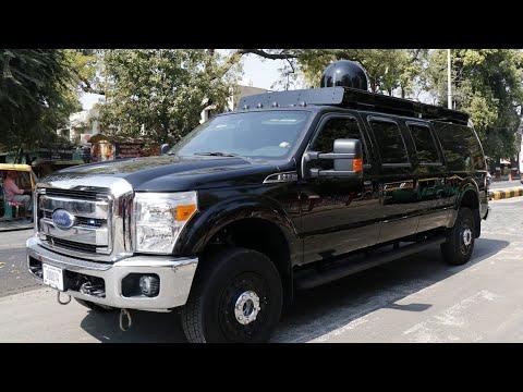 Donald Trump's fleet of cars arrive in Gujarat by U.S. Air force plane ahead of his Ahmedabad visit