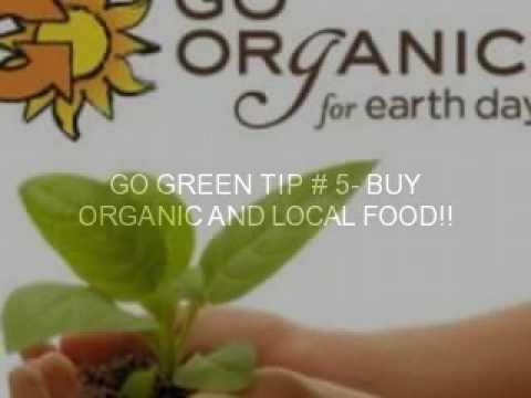 "1o ways to ""Go Green"""