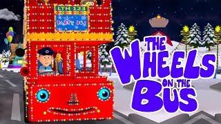 Рождественские Колеса в Автобусе | рифмы в россии | детская песня | Christmas Wheels on the Bus